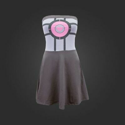 £21.18 • Buy Portal 2 Tube Fit And Flare Dress Pink Heart Companion Cube Valve Steam