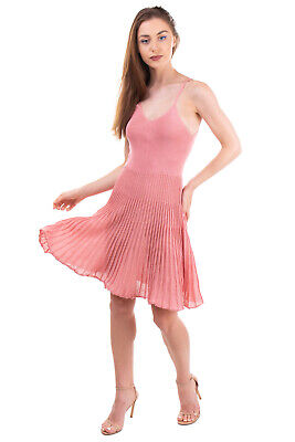 AU20.27 • Buy BRAND UNIQUE Knitted Skater Dress Size S Textured Lame Strappy HANDMADE In Italy