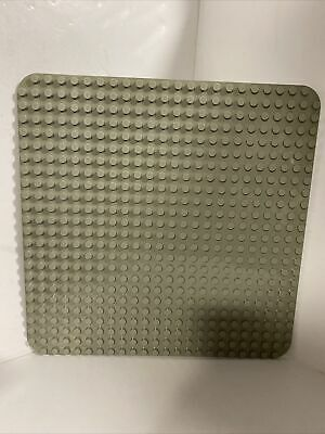 £9.99 • Buy Official LEGO Duplo GRAY Base Plate Board 22 X 22 Stud - 38x38cm - Used