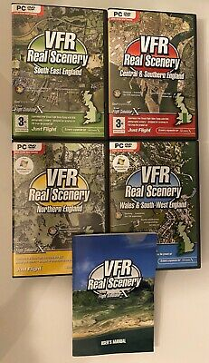 £21.79 • Buy VFR REAL SCENERY England & Wales Volumes 1 2 3 & 4 The Collection Pc Add-On FSX