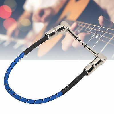 $ CDN9.49 • Buy 6.35mm Guitar Effect Pedal Board Cable Connecting Line Patch Right Angle Cord