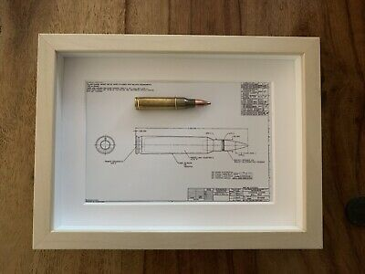 £15.55 • Buy SA80 5.56mm Cartridge On The Back Drop Of An Engineering Drawing