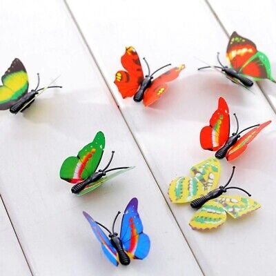 £0.60 • Buy 12 Pcs 3D Butterfly Wall Stickers Children Room Decal Home Decoration Decor
