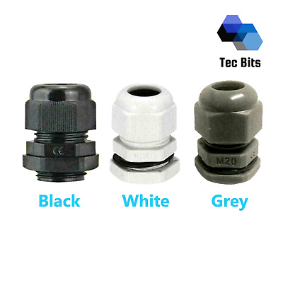 £1 • Buy IP68 Waterproof Cable Gland Locknut Washer M12 M16 M20 M25 For Junction Box UK