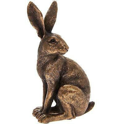 £9.75 • Buy Reflections Bronzed Sitting Hare Resin Wildlife Home Decor Ornament Figurine