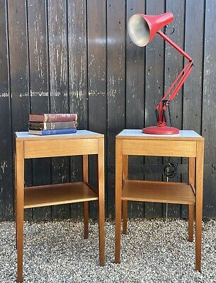 £145 • Buy Pair Of Vintage 1960's Ex Military Remploy Bedside Tables With Drawer