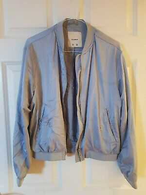 AU4.87 • Buy Pull And Bear Size M 10 12 Blue Bomber Jacket Satin Casual