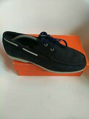 £1 • Buy Rockport Mens Loafers Size 11 Deck Leather Navy Blue Comfort Shoes Xcs Moccasins