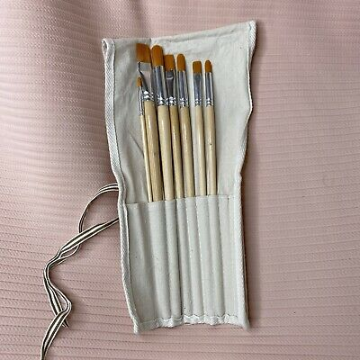 £4 • Buy Artist Paintbrush Set With Case, Painting, Art, Brush, Canvas Roll Case