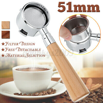AU36.80 • Buy 🔥Coffee Bottomless Portafilter 51MM For Delonghi EC680/EC685 Filter Replacement