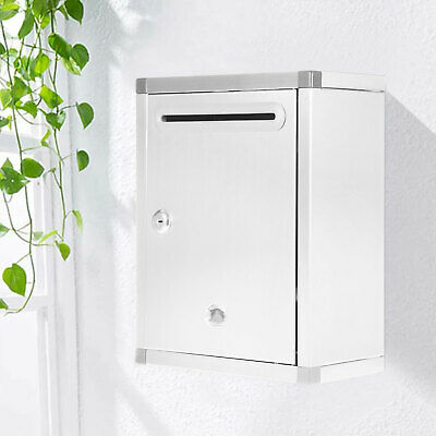 $33 • Buy Mailbox Letter Post Box Drop Box Stainless Steel Wall Mounted Outdoor Lockable