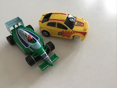 £2 • Buy Hornby Scalextric Cars, Benetton And Racer (For Repair)