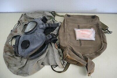 $38 • Buy Vintage US Military M17A1 Protective Gas Mask With Original Bag | Size Small
