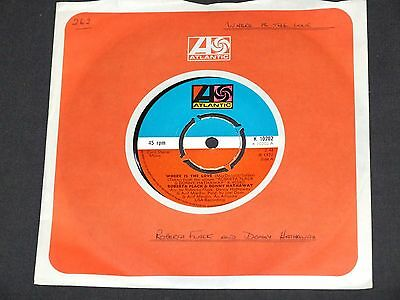 £4 • Buy ROBERTA FLACK & DONNY HATHAWAY - Where Is The Love - 7  Single.1972