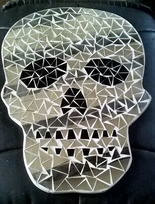 £15 • Buy Skull Shape Mirror Mosaic Gothic Halloween Day Of The Dead