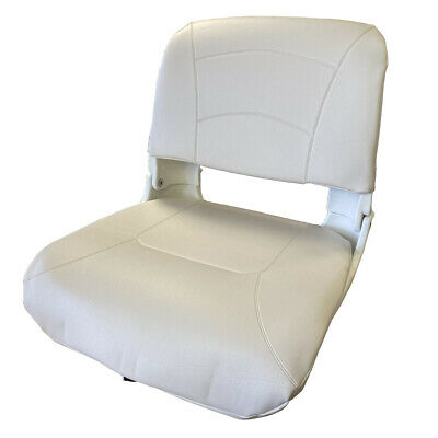 £50.99 • Buy FOLDING DELUXE ALL WEATHER BOAT SEAT MARINE - WHITE Fishing Chair Rib Speedboat