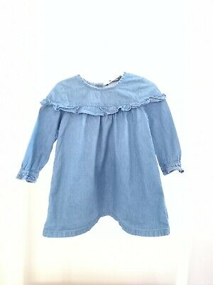 £2.15 • Buy Baby Girls 12-18 Months Long Sleeve Blue Denim Dress Outfit Clothes Summer Comfy