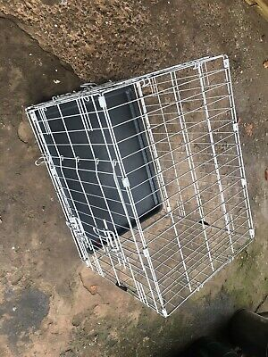 £10 • Buy Dog Cage X Small - Folding  - Double Door - Pets At Home 50h X 43w X 61L Cms
