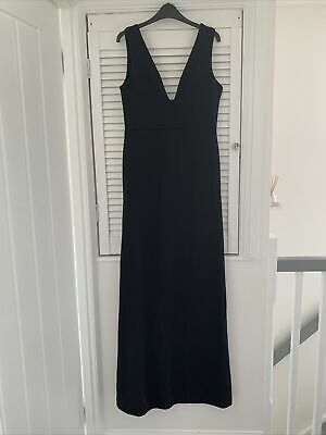 £2 • Buy Misguided Floor Length Black Dress Size 14 Excellent Condition
