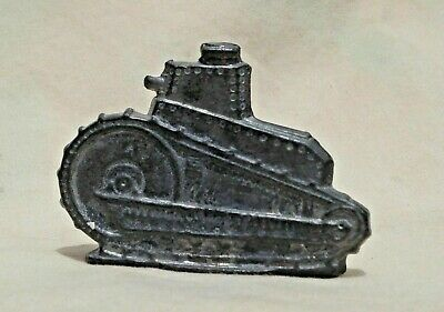 $5.99 • Buy Vintage Metal Lead (?) Military Tank Stand-Up Toy Figure