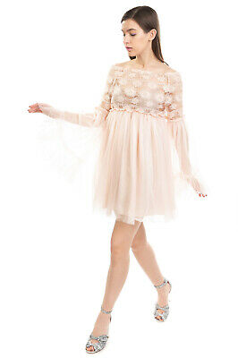 AU36.88 • Buy RRP €305 NORA BARTH Tulle & Lace Smock Dress Size IT 42 S Sequins Made In Italy