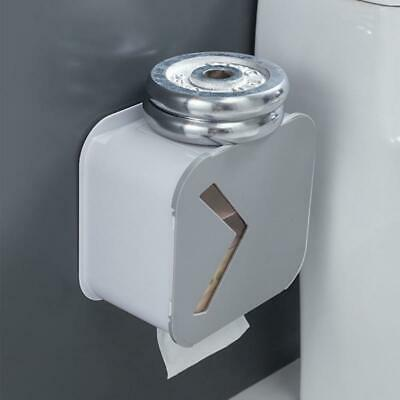 AU22.77 • Buy Toilet Paper Roll Holder Punch-free Wall-mounted Tissue Box Waterproof Dispenser