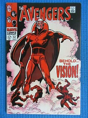 £184.70 • Buy Avengers # 57 - (vf/nm) -1st App Of The Vision,black Widow,ultron,black Panther