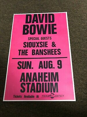 $7.99 • Buy David Bowie Siouxsie And The Banshees 1989 Cardstock Concert Poster 12x18