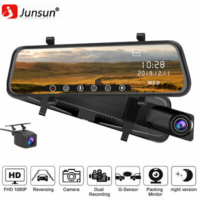 AU139.99 • Buy 12'' Touch 2K HD 1440P Dash Cam Car DVR Rearview Mirror With 1080P Rear Camera