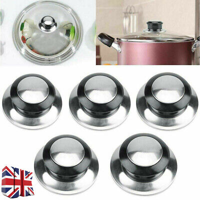 £3.08 • Buy 1/2/3Pcs Stainless Steel Pot Pan Cover Knob Handle Replacement Lid Hand Grip Pz