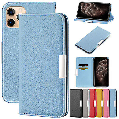 AU11.27 • Buy For IPhone 12 11 Pro Max XS X XR 8+ 7 Leather Card Holder Magnet Flip Case Cover