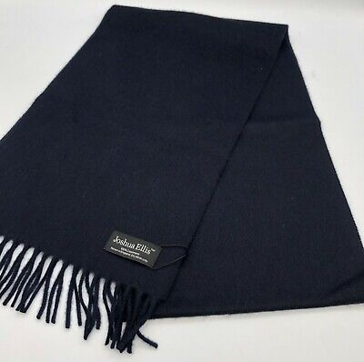 £39.99 • Buy 100% Pure Cashmere Scarf By Joshua Ellis, Navy, Camel, Orange, Made In England