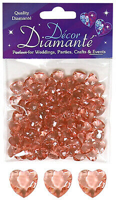 £2.99 • Buy Rose Gold Heart Table Scatter Crystals Confetti Wedding Party Decorations 12mm