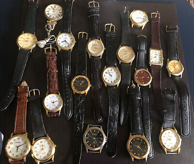 $ CDN12.89 • Buy Job Lot Of Gents Used Watches Spares Or Repair No Batteries