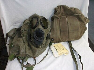 $69.95 • Buy US Army Gas Mask M17A-2 Vintage Military Black Chemical Biological Size M MEDIUM
