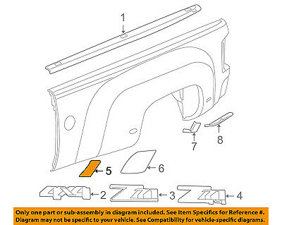 £67.06 • Buy GM OEM Pick Up Box Bed-Stone Deflector Guard Right 15952190