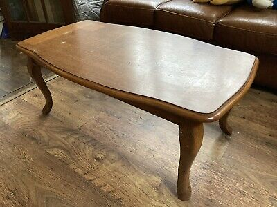 £0.01 • Buy Wooden Rectangle Coffee Table With Queen Anne Legs