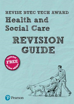 £8.13 • Buy Pearson REVISE BTEC Tech Award Health And Social Care Revision Guide: With Free