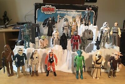 $ CDN128.65 • Buy Vintage Kenner Star Wars Figures + Weapons + Imperial Attack Base Lot! (no Case)