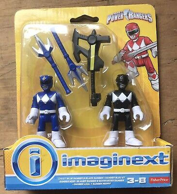 £19.99 • Buy Power Rangers Figures,  Imaginext Black & White Rangers + Weapons New And Sealed