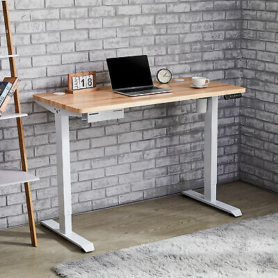 AU339.98 • Buy 120/140cm Standing Office Desk Height Adjustable Motorised Sit Stand Home Table