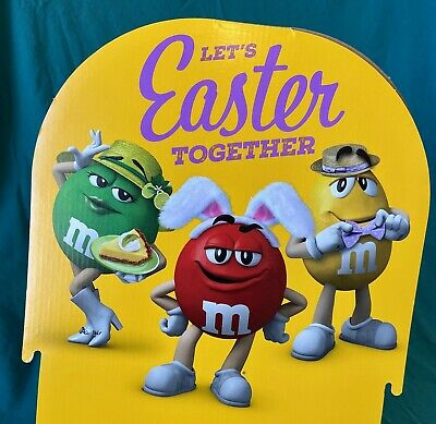$11 • Buy M&M's CANDY DISPLAY! • Easter • ADVERTISING • Cardboard • VGC • 2021 • Sassy!