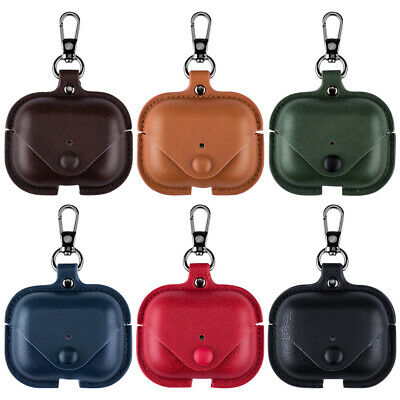 $ CDN7.46 • Buy Leather Case For AirPods Pro 2 1 Case Soft With Keychain Hook Black Protective