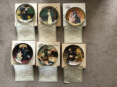 $ CDN25.77 • Buy JOB LOT 6 X NORMAN ROCKWELL KNOWLES COLLECTABLE PLATES C/W BOX & CERTIFICATES