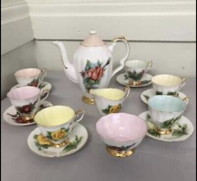 £155 • Buy Paragon China- Harry Wheatcroft Six World Famous Roses Coffee Set