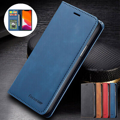 AU11.57 • Buy For IPhone 11 12 Pro Max XS XR X 8+ 7 Leather Wallet Card Pocket Flip Case Cover