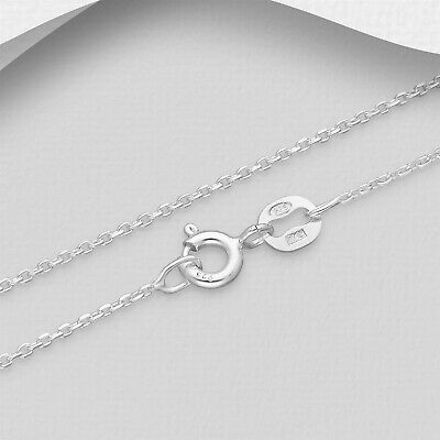 AU10.99 • Buy Solid 925 Sterling Silver 1mm Italian Made Classic Cable Chain Necklace Pendants