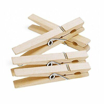 £3.85 • Buy 48 Pcs Large WOODEN PEGS Clothes Hanging Washing Line Airer Dryer Strong Grip
