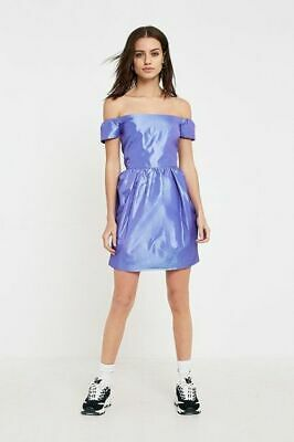 AU14.74 • Buy Urban Outfitters Pins & Needles Bardot Puff Party Dress Size 12-14 New Purple