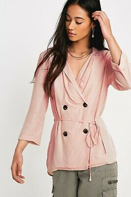 AU18.36 • Buy UO Urban Outfitters Soft Double-Breasted Blouse Size XS RRP £42  Pink